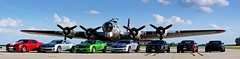 Camaro's with B-17 Bomber (Kyle.Korth) Tags: world cars chevrolet car sport plane flying airport war gm general rally ss plan super iowa panoramic camaro motors b17 chevy ii transportation planes bomber 1945 fortress rs v8 2012 airfield v6 2014 autombile 2ssrs