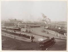 Central (Redfern) Railway Station circa 1892 (H King photograph) (john cowper) Tags: sydney railwaystation newsouthwales tramway centralrailwaystation devonshirestreet railwayheritage steamtram railwaygates