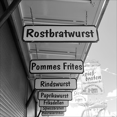 german fast food (loop_oh) Tags: carnival germany fun deutschland hotdog hessen frankfurt main roundabout bank frites pommes scooter carousel fair frenchfries steak sausages ferriswheel rollercoaster wurst merrygoround bigwheel messe funfair bratwurst karussell riesenrad frankfurtammain frankfurtmain roemer bigdipper metropole whirligig rmer hesse achterbahn mainhattan rummel frikadellen pommesfrites jahrmarkt dippemess boxauto rostbratwurst autoscooter eintracht bockwurst frankfurtam rindswurst spiessbraten paprikawurst spiesbraten