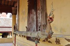 Naga themed artefact at Wat Sisaket (oldandsolo) Tags: southeastasia buddhism laos touristspot chedi vientaine watsisaket buddhistshrine laopdr religiousshrine laoscapital buddhistreligion buddhistfaith