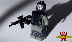 Modern Black-Ops Skull - Dark Grey (Saber-Scorpion) Tags: black call lego duty ghost ghosts minifig cod ops moc blackops minifigures brickarms codblops