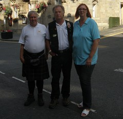 Me with Don and Gabriele (cessna152towser) Tags: kilt bagpipes pipeband hawick