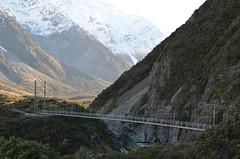 Premier pont suspendu - Rando Hooker Track