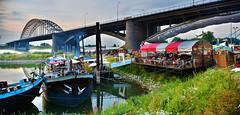 De Kaaij, Nijmegen (Nils van Rooijen) Tags: bridge netherlands nijmegen river hdr waal gelderland d5200 walbrug dekaaij