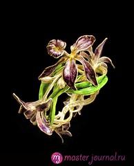 11 Браслет с орхидеями