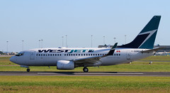 Westjet 737-700 C-GUWJ (birrlad) Tags: dublin canada newfoundland airplane airport labrador taxi aircraft aviation airplanes stjohns airline 28 boeing airways airlines westjet departure takeoff runway dub airliner 737 departing taxiway 737700 7377ct cguwj