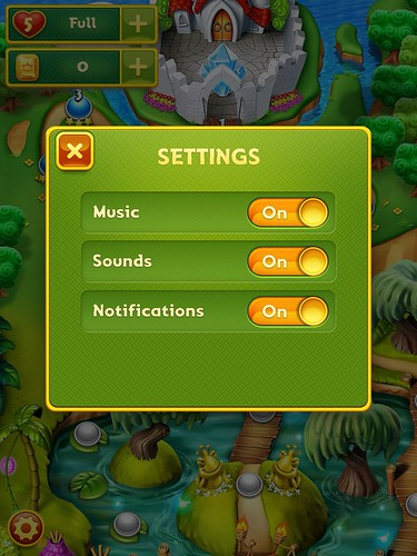 Charm King Settings: screenshots, UI