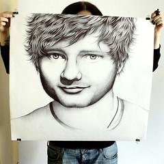 Portrait of Ed Sheeran (miau smiles) Tags: portrait guy face illustration pen ed teddy drawing fine arts dude singer biro songwriter ballpoint bic ballpan sheeran