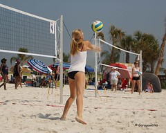 Gulf Shores Beach Volleyball Tournament (Garagewerks) Tags: woman beach girl sport female court sand all child gulf sony sigma tournament volleyball shores 50500mm views50 views100 views200 views250 views150 f4563 slta77v