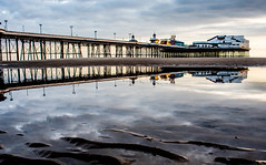 Pier Reflections. (CWhatPhotos) Tags: pictures camera sea sky irish holiday reflection water digital that lens four photography reflecting mirror pier seaside sand day foto with view image artistic pics north picture july pic olympus images lancashire resort have reflect photographs photograph fotos micro promenade which blackpool fit contain 43 thirds lancs 2014 em10 mft esystem cwhatphotos olympusem10
