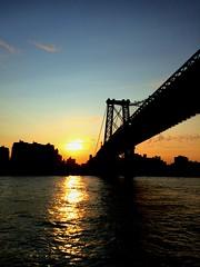 Williamsburg Bridge sunset 2014 (Casper Rilla) Tags: new york city nyc bridge sunset ny river east williamsburg