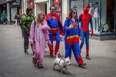 Superhero's Day Out (Silver Machine) Tags: costumes lumix candid spiderman streetphotography hampshire superman superhero hulk winchester fancydress lumixg20mmf17 lumixg5