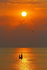 Drascombe Boat at Sunset 3 (John Ibbotson (catching up!)) Tags: sun silhouette wales boat ceredigion drascombe