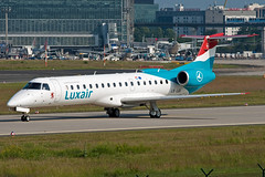 LX-LGI Luxair ERJ-135 (Centreline Photography) Tags: plane canon germany airplane deutschland airport frankfurt aircraft aviation airplanes flight aeroplane planes chrishall flughafen runway spotting fra airliner airliners embraer luxair planespotting flug spotters erj frankfurtairport eddf erj135 eos400d lxlgi centrelinephotography