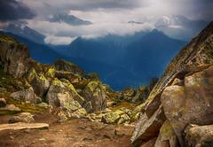 Mountains mood (ceca67) Tags: mountain alps nature weather photography switzerland rocks hiking svetlanaperic