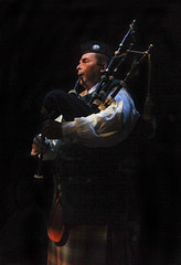 Josh Brown (Bagpiper) in Brigadoon, produced by Music Circus at the Wells Fargo Pavilion August 5-10, 2014. Photos by Charr Crail.