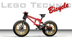 Lego Technic Bicycle (hajdekr) Tags: bike bicycle toy lego technic moc ldd myowncreation legodigitaldesigner