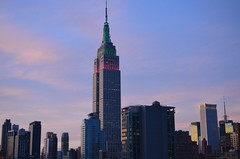 Empire State (Julie.Fournie) Tags: morning ny newyork sunrise buildings empirestatebuilding 1855mm newyorkbuildings newyorksunrise d5100