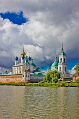 View of Spaso-Yakovlevsky Monastery in Rostov from Nero Lake (Nataliya Belitskaya) Tags: old summer lake church water architecture russia rostov orthodoxy 2014 yaroslavloblast