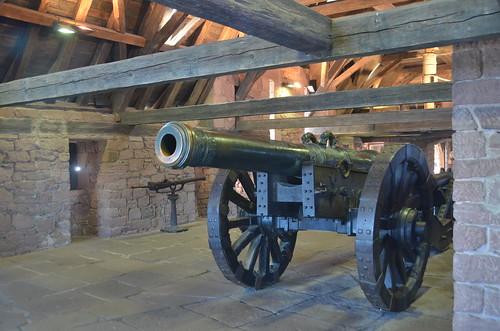 Le château du Haut-Koenigsbourg.La plateforme d'artillerie.5