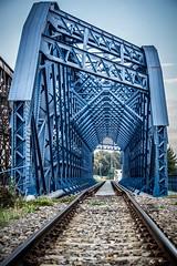 blue bridge (SelfMd Photography) Tags: dresden steel rail zug blau brcke rost selfmade elbe friedrichstadt schiene stahl nieten alberthafen zugbrcke sigma1020mmf35ex selfmd selfmdphotography alexmder