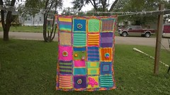 Debra Gibson (The Crochet Crowd) Tags: mikey yarn blanket afghan cathy redheart challenge throw supersaver crochetsquares crochetchallenge thecrochetcrowd michaelsellick freeafghanpattern freecrochetvideos stitchcation