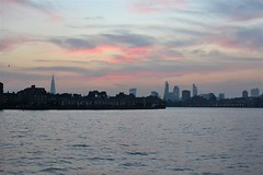 2014-09-15: Rotherhithe Sunset (psyxjaw) Tags: sunset london tower thames river skyscrapers towers thecity business wharf docklands canary offices cityoflondon londonist isleofdogs