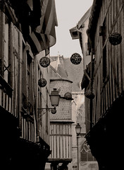 Exoplanets. (Ludothum) Tags: world street city sky blackandwhite paris france art sepia architecture photomanipulation troyes town photo noiretblanc earth champagne ciel planet terre monde rue ville middleage au