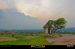 AN EVENING AT HAMPI (GOPAN G. NAIR [ GOPS Photography ]) Tags: india history tourism photography empire karnataka hampi gops gopan vijayanagara gopsorg gopangnair gopsphotography
