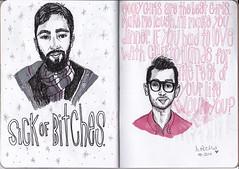 SketchbookProject17 (DANIELLEROCKSPHOTOGRAPHY) Tags: art pen ink typography sketch drawing sketchbook marker micron okcupid tinder plentyoffish sketchbookproject