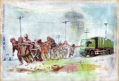 Olkrise 2040 (heiko ELIAS friedrich) Tags: collage elias grafik heiko friedrich zeichnung realismus gegenstndlich