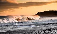 Light vs The Dark.#waves #ocean #novascotia #seascapes #sunset  #magic  #peacefulness #water (Sherrie D.) Tags: ocean sunset water waves novascotia seascapes magic peacefulness