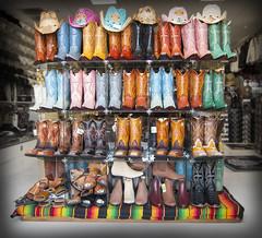 ReBoot (instagram: @ayegaem) Tags: colors shop cowboys canon mexico boot nikon boots hats sanjose wear mexican boutique sj bayarea sjc southbay botas raza s100
