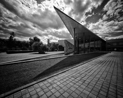 american- (big andrei) Tags: leica sky bw cloud building wide monochrom 12mm56