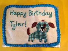 Dog cake by Kristine, Linn County, IA, www.birthdaycakes4free.com