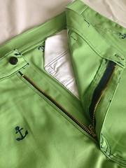 กางเกงสามส่วนลายสมอ ซิป