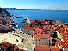 Piran the little Venice (emilydow) Tags: houses red roofs slovenia piran