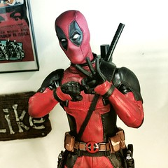 He came through on Halloween last year. I waited a long time just to do this. (Korpsical666) Tags: deadpool ryanreynolds wadewilson marvel sideshowcollectibles photography antihero mercwithamouth