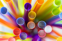 Before the party (spwasilla) Tags: macro straws canon canon6d color lightpattern