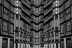 Collage i (Niaic) Tags: collage building architecture blackandwhite monochrome contrast tudor repetition symmetry shape form lines pattern surreal
