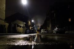 Era una notte buia e tempestosa (STE) Tags: notte città city wet pozzanghera pozzanghere pioggia rain novara san gaudenzio pov sony rx100 rainy
