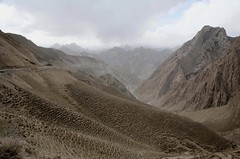 Eons of Animal Tracks or Trails View of Western Kunlun Shan from the Tibet-Xinjiang G219 Highway Tibetan Side of Kunlun Mountains China Asia (eriagn) Tags: peaks overcast autumn highaltitude animalpaths animaltrails hillside slope kunlunmountains mountainpass road steep mountainous tibet china arid rocky geology asia remote isolated roading chinese engineering kunlunshan tibetxinjianghighway highway219 ngairehart ngairelawson eriagn travel expedition roofoftheworld tibetanplateau xinjiang yecheng lhatse infrastructure volcanic scenic spectacular trade traderoute vehicle g219highway landscape littlestories picswithsoul