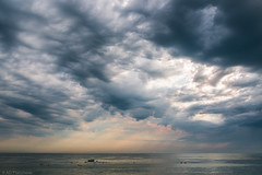 Ominous (Anthony P26) Tags: brighton category eastsussex england places seascape travel cloudscape cloudy cloudysky clouds cloud cloudformation sky horizon sea boats rain coastal travelphotography canon1585mm canon70d canon uk unitedkingdom english englishchannel british greatbritain britain outdoor