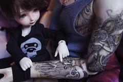 Alve and Loke 3 (Nattmaran) Tags: family boy man male strawberry doll with you father son be bjd abjd herculean spiritdoll dollclans vezeto dollsbe