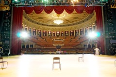 View from stage to auditorium in the Novosibirsk State Academic Opera and Ballet Theatre (MadCyborg) Tags: opera theater theatre russia stage novosibirsk auditorium oper russland nowosibirsk