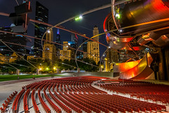 Pritzker Pavillion (rseidel3) Tags: city chicago night downtown milleniumpark pavillion pritzker
