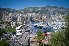 Monaco, from The Rock. (Alexander Jones - Documentary Photography) Tags: rock boats photography one 1 nikon power harbour shell documentary grand f1 pit casino monaco prix v lane formula carlo monte yachts pitlane tagheuer 2014 zepter rascasse d3000