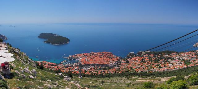 纜車站上拍Dubrovnik