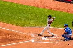 Tim Lincecum at Bat (phoca2004) Tags: sanfrancisco california unitedstates sfgiants mlb nymets attpark timlincecum