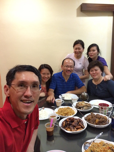 Dinner at Cheah Chee Keong's home